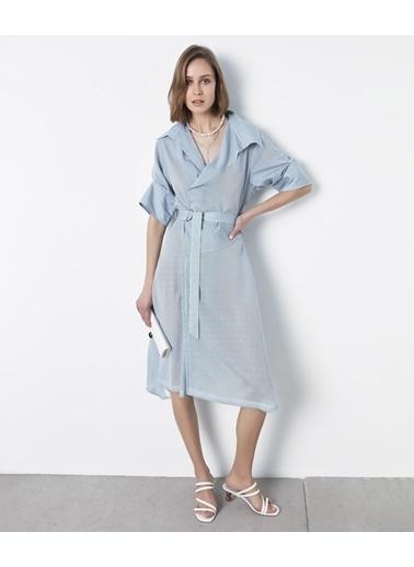 Ipekyol Kuşaklı Anvelop Elbise Mavi